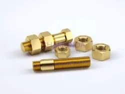 Jcbi India Round Brass Nut bolt, for Industrial, Packaging Type: Box