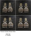 Dual Tone German Silver Earrings