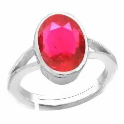 Ruby Stone Ring Silver Gemstone