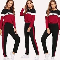 Eagle Fashion Ladies Fancy Cotton Track Suit, Size: 30-34