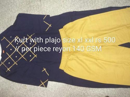 Rayon Full Sleeve Kurti With Palazzo