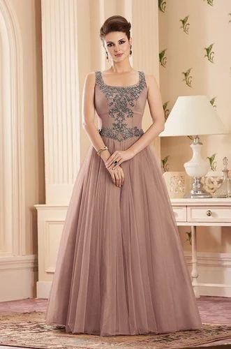 bf2768837e Net Gowns - Distinctive English Pink Mauve Designer Gown Wholesaler ...
