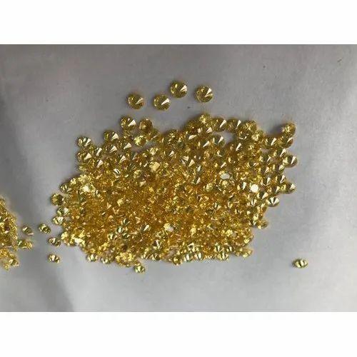Golden Yellow Cubic Zirconia Gemstone