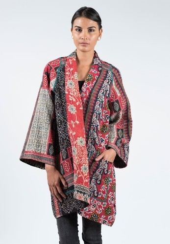 fb59a6c9f4 Cotton Thread Embroidery Handmade Long Vintage Kantha Jacket, Rs ...