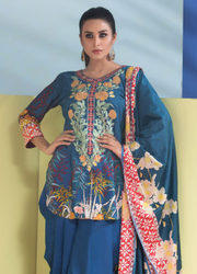 Pakistani Sahil Lawn Embroidered Suits
