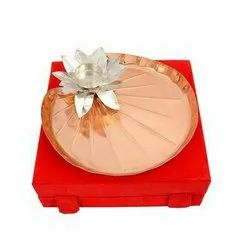 Copper Pooja Thali 9 Diameter-BSG145