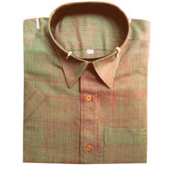 Formal Wear Plain Men's Khadi Silk Shirt