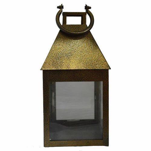 Golden Hanging Glass Candle Holder