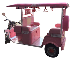 Pink Battery Electric Rickshaw