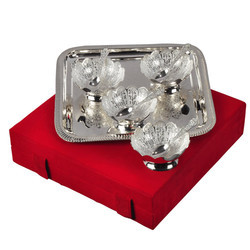 Elegant Silver Plated Brass Gift Set
