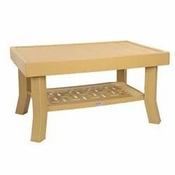 Plastic Brown Supreme Vegas Center Cane Table, for Home