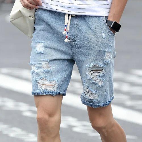 medium and xxl men ripped denim shorts rs 500 piece