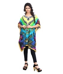 Printed Short Georgette Kaftan Kurta For Party Wear 2018