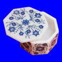 Floral White Marble  Inlay Work Square Shape Jewelry Box