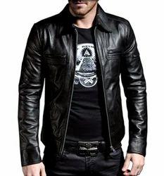 MARIYAM Leather Mens Lambskin Leather Jacket L Black