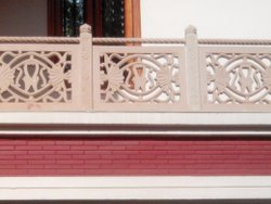 Square Stone Jali Railings