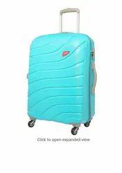 Polycarbonate Plain Skybags Colorado Skyblue Hard Luggage Upright Travel Trolley Bag, Size: 57 Cms X 33 Cms X 81 Cms