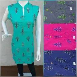 Cotton Jaipuri Short Kurti