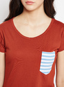 Women's Round Neck 100% Cotton T-Shirt