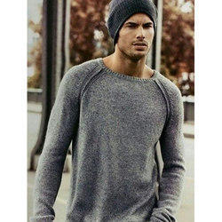 33a1fae6b1b418 Full Sleeves Pullover Mens Round Neck Sweater