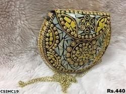 Azzra mosaic clutch