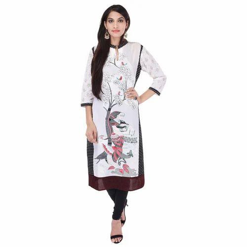 93314ba1445 Cotton Designer Long Kurti White at Rs 299  piece