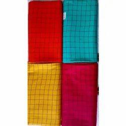120 Gsm Rayon Checks Fabric, For Clothing