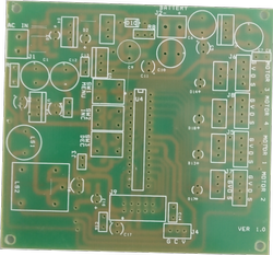 Single Side Printed Circuit Board, Min Hole Size: 0.8mm
