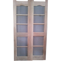 Exterior Hinged Brown Wooden Jali Door