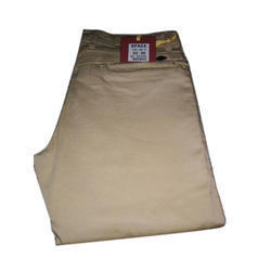 Regular Fit Space Cotton Trouser, Waist Size: 30