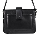 Ladies Black Casual Leather Hand Bag, Yes