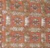 Orange And Cream Color 100% Silk Printted Silk Fabric Seet, Use: Garments