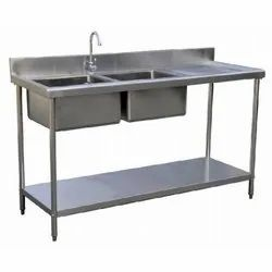 Double Sink Unit With Table