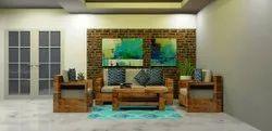 1 BHK室内设计包装,提供:木工和家具,尺寸:450起