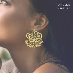 Designer Filigree Pearl Earrings