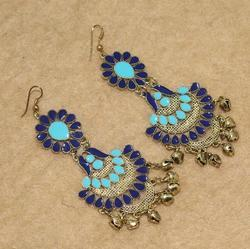 Beadsnfashion Multicolor Afghani Earrings, Size: Free