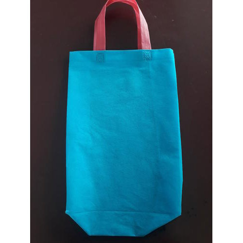 Sree Ranga Blue and Ivory Loop Handle Plain Bags