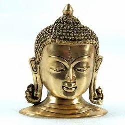Brass Kundal Buddha Mask