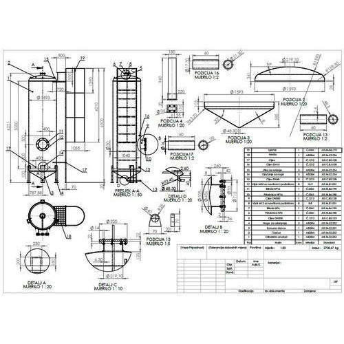 ga and fabrication diagram in moshi  pune