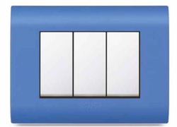 Curve Plates Blue Switch Plate