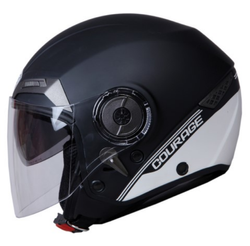 Super THH T-314-Black-Courage-Matt Half Face Helmet