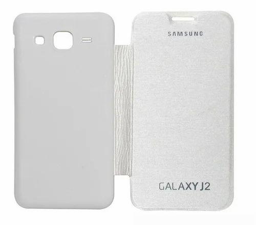 5e45f77ed18 Plastic Flip Cover Samsung Galaxy J2 (White)