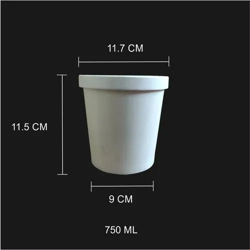 750 Ml Paper Tub/Bowl With Paper Lid