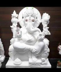 2.5 Feet Marble Ganesh Statue