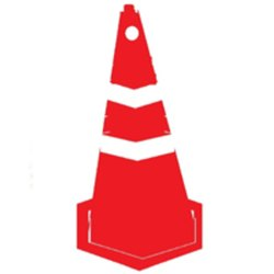 Red Plastic Nilkamal Traffic Cone 1000MM HW