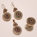 Designer Copper Turkish Ring Pendant Set
