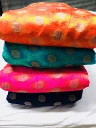 Ethnic Legend Printed Silk Jacquard Fabric