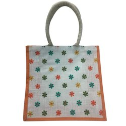 Embroidered Jute Embroidery bag