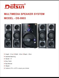 Dotsun DS- 9903 with 6 Inch Woofer With Bluetooth
