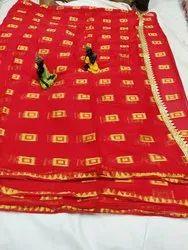 Half Half Patli Pallu Bandhani Saree